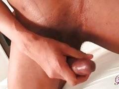 Awesome T-Ebony Kitty Rubs Her Boner 1