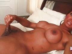 Awesome T-Ebony Kitty Rubs Her Boner 2