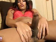 Belize is a stunning black tgirl with a sexy slim body, firm ass and a delicious uncut cock!