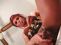 Awesome Black Tranny Is Fondling Herself 2