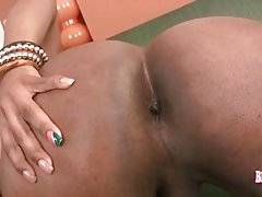 Curvaceous Black Tranny Poses For You 3